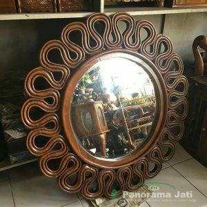 Cermin Kaca Kayu Jati